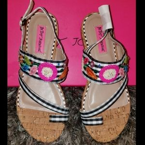 New in box! Betsey Johnson Sandals size 6